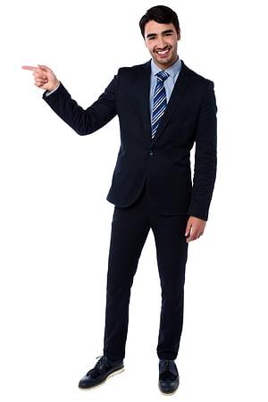 Man Pointing Left
